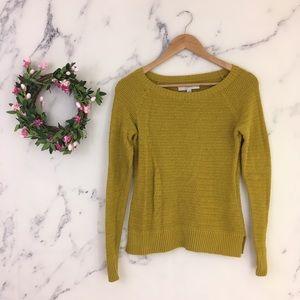 Ann Taylor LOFT Mustard Yellow Sweater
